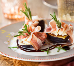 Prosciutto Wrapped Figs with Balsamic Dressing