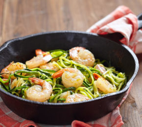 "Garlic Shrimp with Zucchini ""Noodles"""