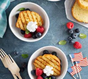 Grilled Pound Cake and Berries
