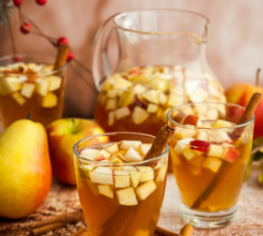 Caramel Apple and Pear Sangria