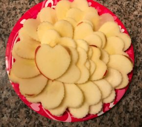Valentine's Day Heart Apple Slices