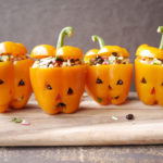 Stuffed Jack-O-Lantern Peppers