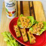 Buffalo Chicken Celery Sticks or Lettuce Cups